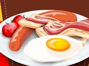 Готовка яиц с беконом