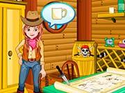 Эльза в ковбойской комнате