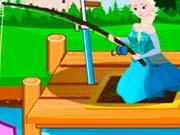 Эльза изучает рыбалку