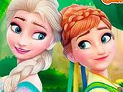 Замороженные сестры лица