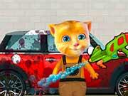 Рыжик моет машину