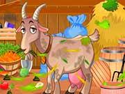 Уборка в сарае с козлом