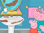 Свинка Пеппа чистит ванну