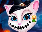 Говорящая Анжела макияж на Хэллоуин
